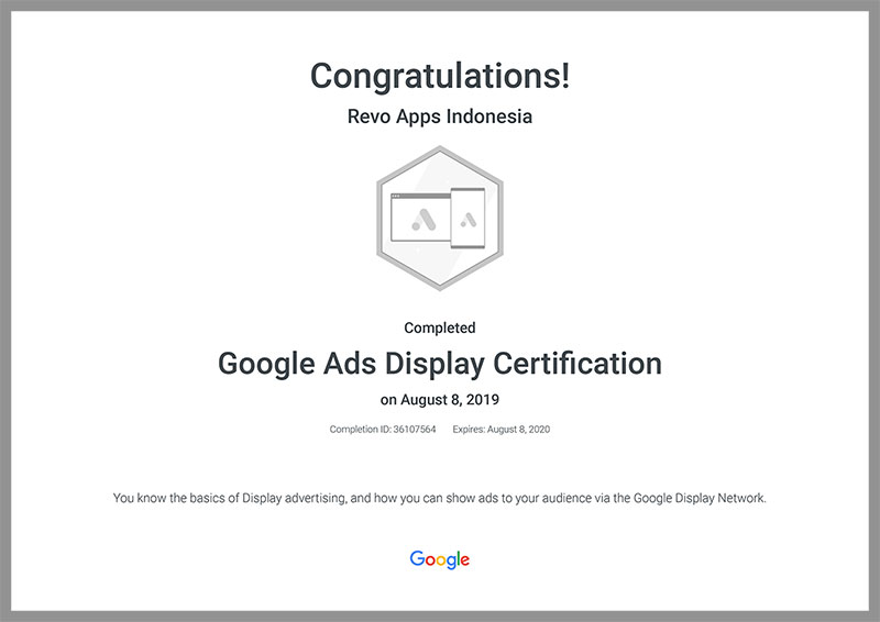 Revo-Apps-Google-Ads-Display-Certification