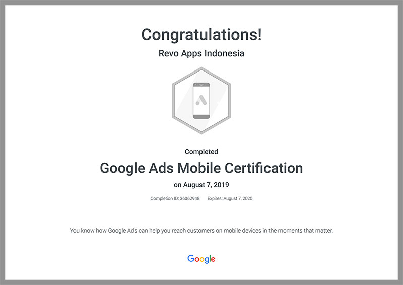 Revo-Apps-Google-Ads-Mobile-Certification