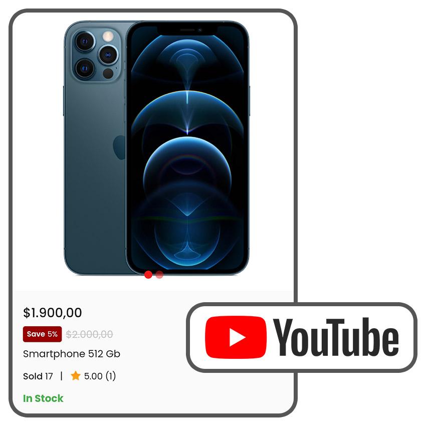 Tampilkan video dan gambar produk, untuk membuat produk lebih menarik bagi pembeli.
