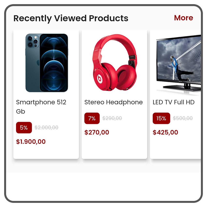 Tampilkan produk-produk yang terakhir dilihat agar meningkatkan penjualan.